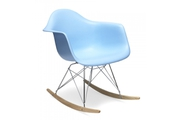 Стул Eames Style RAR Rocking Chair голубой
