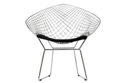 Стул Harry Bertoia Style Diamond Chair черный