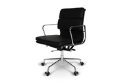 Кресло Eames Style Soft Pad Office Chair EA 217 черная кожа