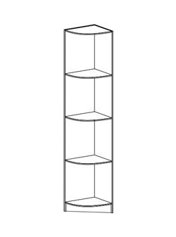 Мебель Стендмебель (StendMebel) Шкаф угловой ПУ 201 Машенька